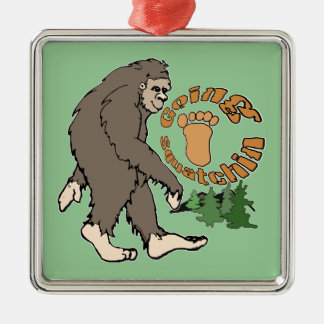 Going Squatchin Christmas Ornament