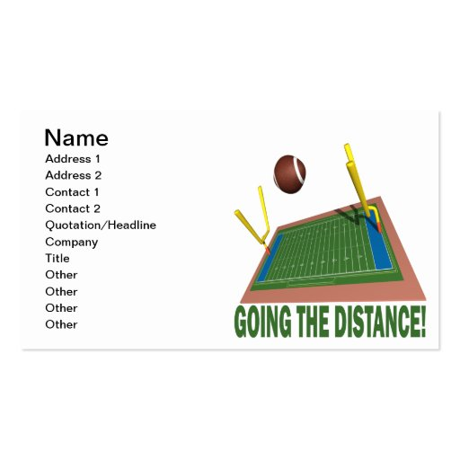 Going The Distance Business Card