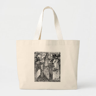 Going to battle large tote bag