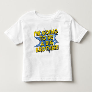 Going to be a big brother comic book announcement tee shirt