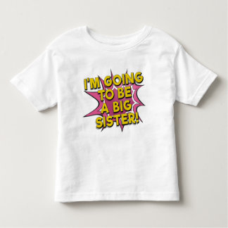 Going to be a big sister comic book announcement tshirts