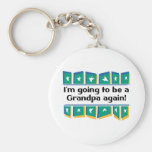 Going to be a Grandpa Again! Basic Round Button Key Ring