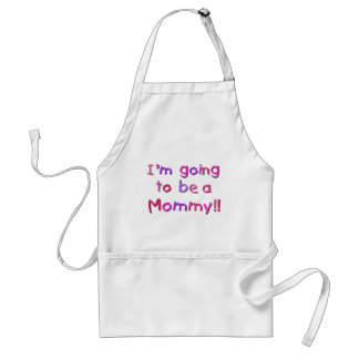 Going to be a Mommy - Pink and Purple Standard Apron