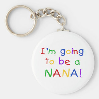 Going to be a Nana - Primary Colors Tshirts Key Ring