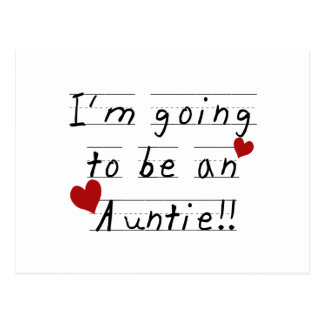 Going To Be An Auntie Kid Print Tshirts and Gifts Postcard