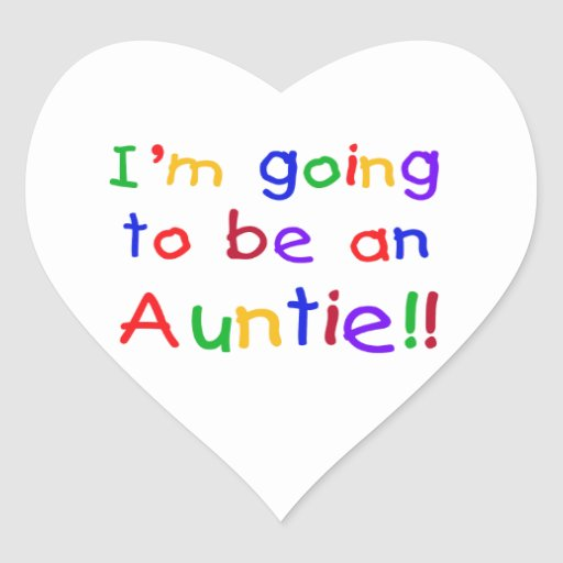 Going To Be An Auntie Primary Colors Gifts Stickers