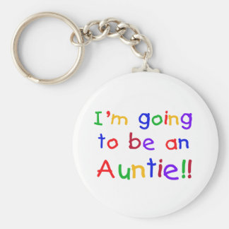 Going to be an Auntie Primary Colors Key Ring