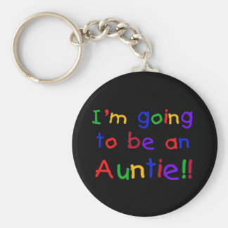 Going to be an Auntie Primary Colors Key Chain