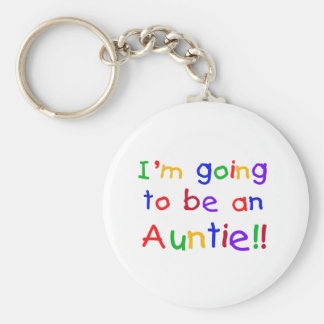 Going to be an Auntie Primary Colors Keychains
