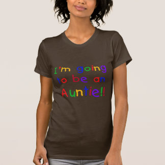 Going to be an Auntie Primary Colors T-Shirt