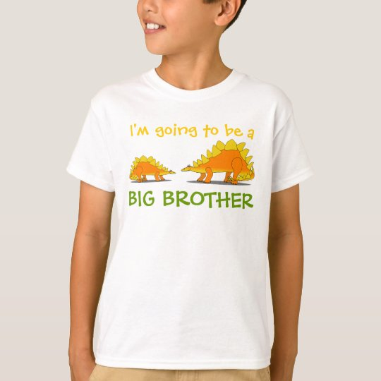 Going to be Big Brother Cute Stegosaurus Dinosaurs