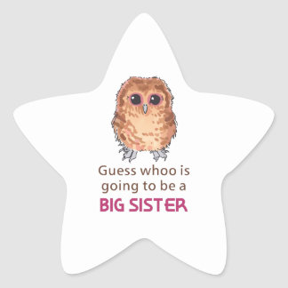 GOING TO BE BIG SISTER STAR STICKER