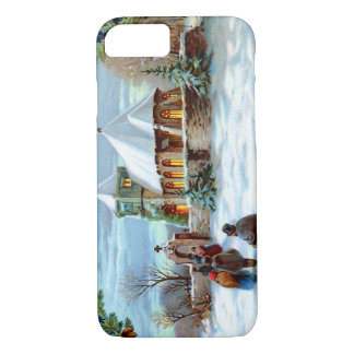 Going To Church Evergreen Christmas Tree iPhone 7 Case
