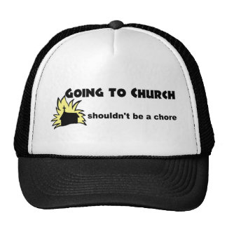 Going to church shouldn't be a chore Christian Mesh Hat