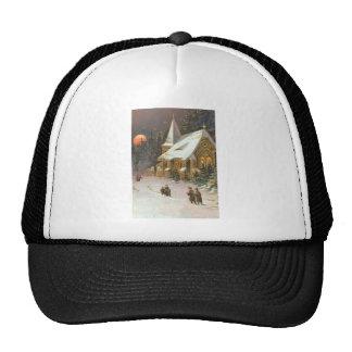 Going To Church Tree Snow Moon Stars Mesh Hat