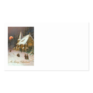 Going To Church Tree Snow Moon Stars Pack Of Standard Business Cards