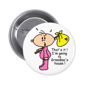 Going To Grandma's House Baby (Pink) 6 Cm Round Badge