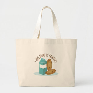 Going To Grandmas Large Tote Bag