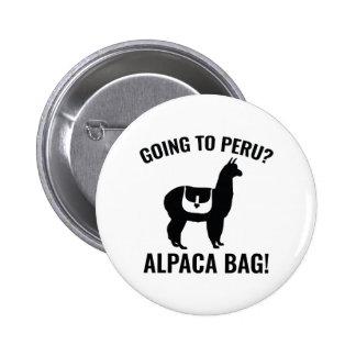 Going To Peru? 6 Cm Round Badge