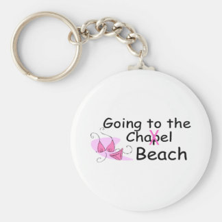 Going To The Chapel Beach (Bikini) Basic Round Button Key Ring