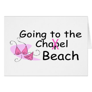 Going To The Chapel Beach Bikini Greeting Cards