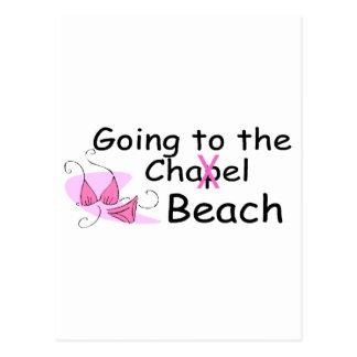Going To The Chapel Beach Bikini Postcards