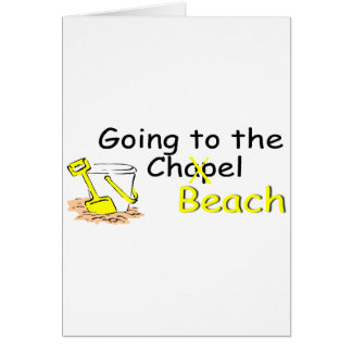 Going To The Chapel Beach Greeting Card