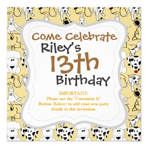 Going to the Dogs Pet Lovers Vet Dog Gifts Custom Invitations