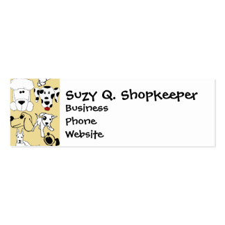 Going to the Dogs Pet Lovers Vet Dog Gifts Pack Of Skinny Business Cards