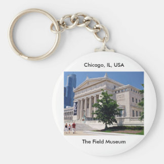 Going to the Field Museum Basic Round Button Key Ring