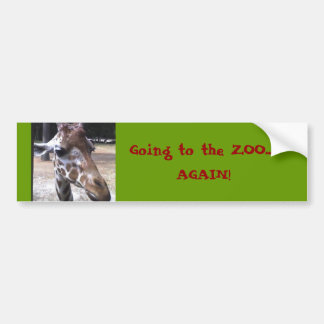 Going to the ZOO..., AGAIN! Bumper Sticker
