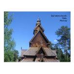 Gol stave church postcard #1