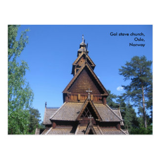 Gol stave church postcard #1