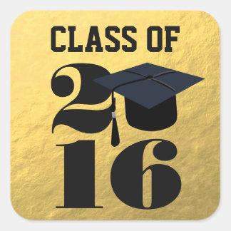 Gold 2016 Grad Cap   Graduation Sticker