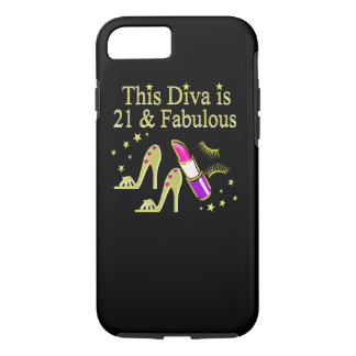 GOLD 21 AND FABULOUS BIRTHDAY DESIGN iPhone 7 CASE