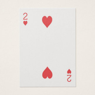 Gold 2 of hearts Las Vegas Wedding Playing Card