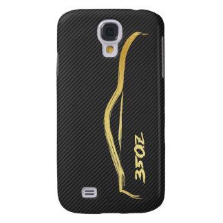 Gold 350z Brush Stroke Galaxy S4 Case