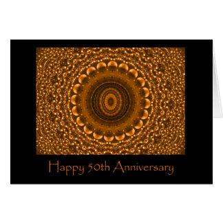 Gold 50th Anniversary Card