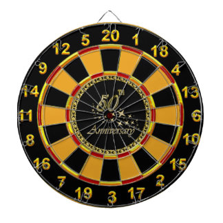 Gold 50th Anniversary gold plated foil Dartboard