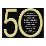 Gold 50th Birthday / Party Invitation