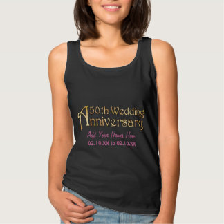 Gold 50th Wedding Anniversary Tank Top