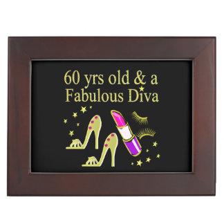 GOLD 60 YRS OLD & A FABULOUS DIVA KEEPSAKE BOXES