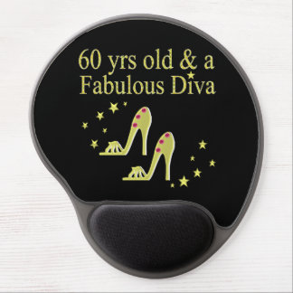 GOLD 60 YRS OLD AND A FABULOUS DIVA GEL MOUSE PAD