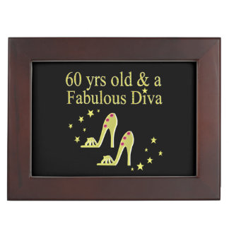 GOLD 60 YRS OLD AND A FABULOUS DIVA MEMORY BOXES