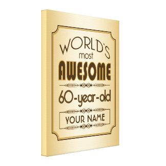 Gold 60th Birthday Celebration World Best Fabulous Canvas Prints