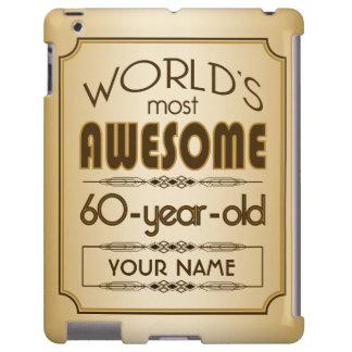 Gold 60th Birthday Celebration World Best Fabulous iPad Case