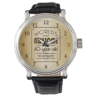 Gold 60th Birthday Celebration World Best Fabulous Watch