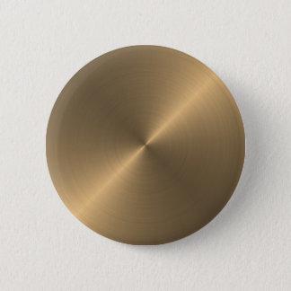 Gold 6 Cm Round Badge