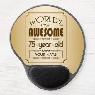Gold 75th Birthday Celebration World Best Fabulous Gel Mouse Pad
