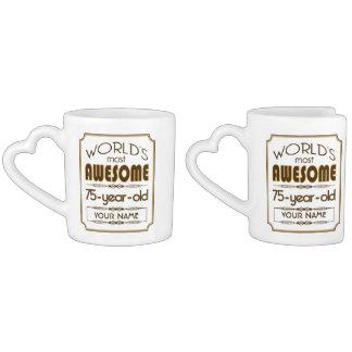 Gold 75th Birthday Celebration World Best Fabulous Lovers Mug
